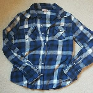 Blue Flannel Button Up